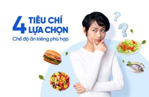 4 Tiêu chí lựa chọn chế độ ăn kiêng phù hợp